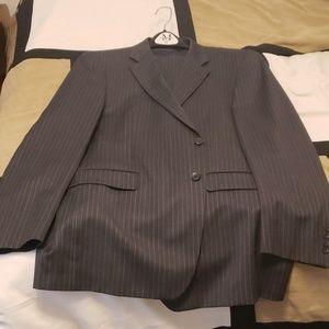 Men's Two-peice Nautica Suit (Charcoal Pinstripe)